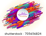 bright colored shapes on a... | Shutterstock .eps vector #705656824