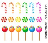 candy set on white background  ... | Shutterstock .eps vector #705658144