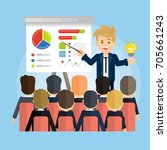 online presentation concept.... | Shutterstock . vector #705661243