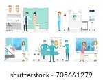 plastic surgery clinic interior ... | Shutterstock . vector #705661279