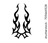 tattoo tribal vector design.... | Shutterstock .eps vector #705664528