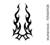 tattoo tribal vector designs. | Shutterstock .eps vector #705664528