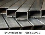 Rectangular metal pipes . steel ...