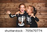 holiday halloween. funny funny... | Shutterstock . vector #705670774