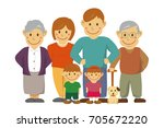 family illustration  image   ... | Shutterstock . vector #705672220
