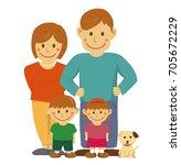 family illustration  image   ... | Shutterstock . vector #705672229