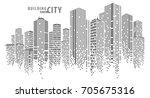 city vector  building in the... | Shutterstock .eps vector #705675316