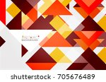 triangle pattern design... | Shutterstock . vector #705676489