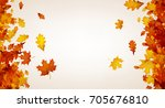 autumn background with golden... | Shutterstock .eps vector #705676810
