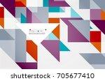 triangle pattern design... | Shutterstock . vector #705677410