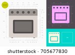 oven color icon  golden section  | Shutterstock .eps vector #705677830