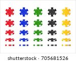 chips rotation cartoon style... | Shutterstock .eps vector #705681526