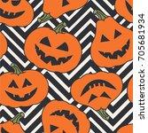 seamless pattern pumpkins for...