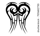 tattoo tribal vector design.... | Shutterstock .eps vector #705682750