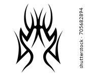 tribal tattoo art designs.... | Shutterstock .eps vector #705682894