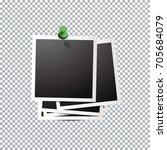 template polaroid photo.    Shutterstock .eps vector #705684079