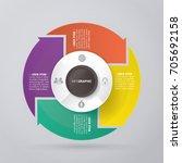 vector circle arrows for...   Shutterstock .eps vector #705692158