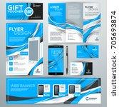 set of stationery design...   Shutterstock .eps vector #705693874