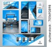 set of stationery design...   Shutterstock .eps vector #705693898