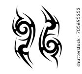 tribal pattern tattoo vector... | Shutterstock .eps vector #705695353
