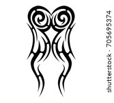 tattoo tribal vector design.... | Shutterstock .eps vector #705695374