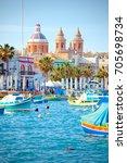 marsaxlokk  malta   may 05 ... | Shutterstock . vector #705698734