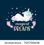 magical dreams lettering from... | Shutterstock .eps vector #705700648