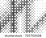 abstract halftone dotted grunge ... | Shutterstock .eps vector #705703438