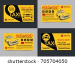 set of taxi service business... | Shutterstock .eps vector #705704050