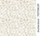 geometric dots deco art... | Shutterstock .eps vector #705708109