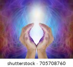 divine light sacred source of... | Shutterstock . vector #705708760