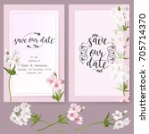 save the date card  wedding... | Shutterstock .eps vector #705714370