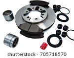 automotive spare parts of disk... | Shutterstock . vector #705718570