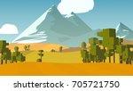 farmland rural cartoon... | Shutterstock . vector #705721750