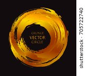 golden grunge circle.vector... | Shutterstock .eps vector #705722740