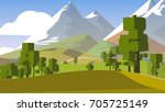 farmland rural cartoon... | Shutterstock . vector #705725149