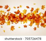 autumn background with golden... | Shutterstock .eps vector #705726478