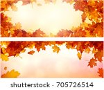 shining autumn banner with... | Shutterstock .eps vector #705726514