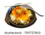 Small photo of Rice with eggs thicken Japan