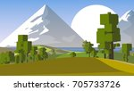 farmland rural cartoon... | Shutterstock . vector #705733726