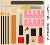 a collection set vector of... | Shutterstock .eps vector #705733990