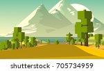 farmland rural cartoon... | Shutterstock . vector #705734959
