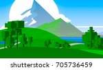 farmland rural cartoon... | Shutterstock . vector #705736459