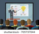 training staff  business... | Shutterstock .eps vector #705737044