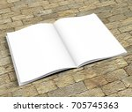opened book template with soft... | Shutterstock . vector #705745363