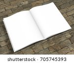 opened book template with soft... | Shutterstock . vector #705745393