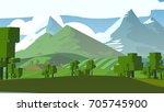 farmland rural cartoon... | Shutterstock . vector #705745900