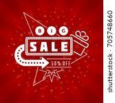 sale banner or badge vector...   Shutterstock .eps vector #705748660