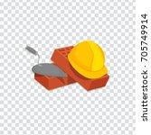 illustration of helmet bricks... | Shutterstock .eps vector #705749914