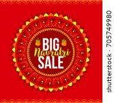 illustration of sale poster or... | Shutterstock .eps vector #705749980
